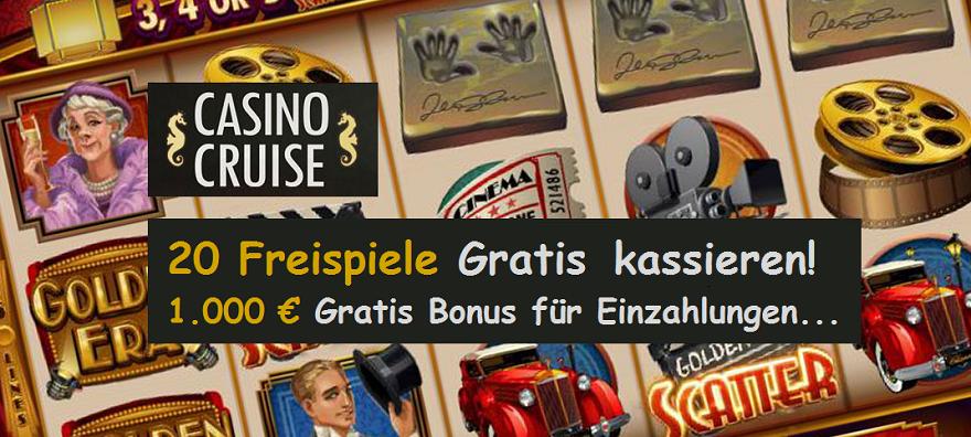 Freispiele, Bonus im Casino Cruise Gratis