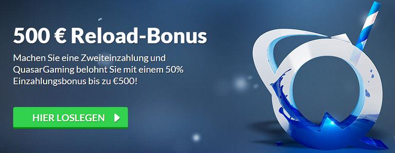 Quasar Gaming Reload Bonus