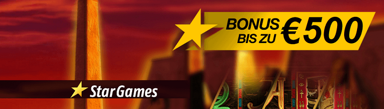 Stargames Casino 500 € Bonus Angebot