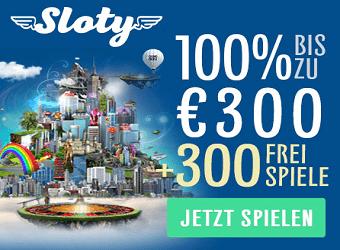 Sloty Casino Gratis Willkommens Bonus
